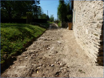 Driveway scrapped, awaiting stone delive